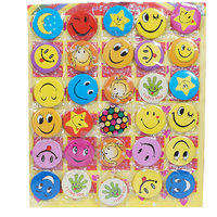 Smiley Face Expressions Button Pins Badge - Set Of 30 -