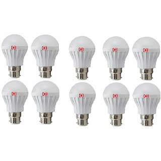 Pack of 10 Alpha Pro B22 5 Watt Cool Daylight LED Bulb