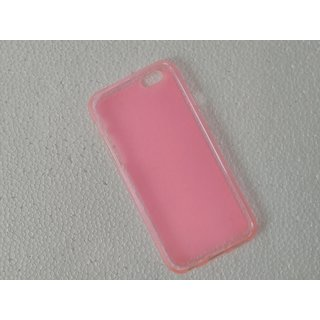 Soft Silicone Back Cover Protection Case For iPhone 6  iPhone 6S ( Pink Color )