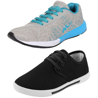 Bersache Combo-Multicolor Men/Boys Pack of 2 Sports Shoes