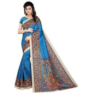 Ozon Designer Fab Blue Cotton Saree with blouse
