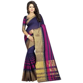 Ozon Designer Fab Designer Cotton Silk Saree with Blouse with blouse