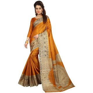 Ozon Designer Fab Gold Cotton Saree with blouse