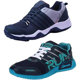 Bersache Combo-Multicolor Men/Boys Pack of 2 Sports Shoes