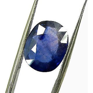 Dinesh Enterprises 7.32 Carat 8.25 Ratti BLUE SAPPHIRE ( NEELAM / NILAM STONE ) 100  ORIGINAL CERTIFIED NATURAL GEMSTON