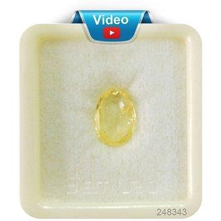 Dinesh Enterprises Yellow sapphire 9.25 ratti Top Ceylon Quality (PUKHARAJ) Certified Natural Gemstone