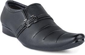 Jovelyn Mens Black Slip On Formal Shoes