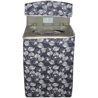 Dream Care Floral Grey  Colored waterproof and dustproof washing machine cover for Fully Automatic top Load 7.5kg to 8.5kg washing machine