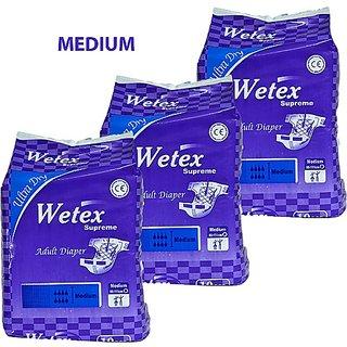 Wetex Supreme Adult Diaper Medium 10 pcs per pack - 3 Pack