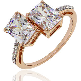 Joal Solitaire Collection White 925 Sterling Silver Cubic Zirconia Rings For Womens