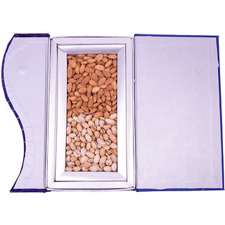 Blue DryFruit Gift Box (Almond, Pista) - 500 gm