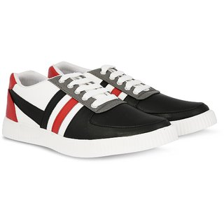 Blinder Black White Red Casual Sneakers Lace-up Shoes For Men