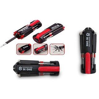 Sunrise High Quality 8 in 1  Multi-Screwdriver Kit With Led Torch