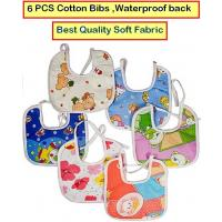 Feeding Baby Bib Knot Style (Multicolor , Random Design) Baby/ Infant Feeding Bibs with Waterproof Back 6 PCS CODENR-1734