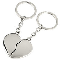 Split Heart Keyring - 2 Key Ring Pack