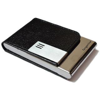 Black Genuine Leather Credit Debit Card Holder Wallet for Men