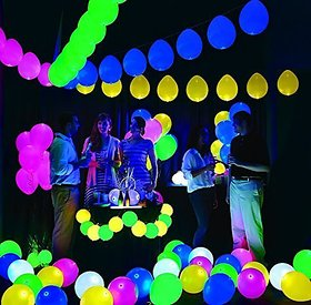 Led Balloons for Party Festival Diwali Christmas New Years Celebrations Home (10 pcs)