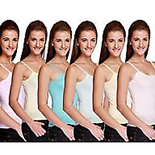 Minha Girls camisole pack of 6 pc asstd color