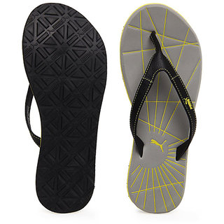 32ab3c866027 ... new zealand puma webster black grey slippers flip flops b2c71 e872c