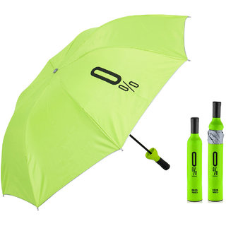 BANQLYN Home Story Fashionable Wine Bottle Colour random 110 cm Travel Umbrella