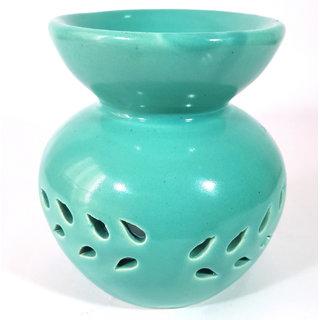 Ceramic Sea Green Color Decorative Candle Aroma Oil Diffuser/Burner or Aroma Tea Light Diffuser