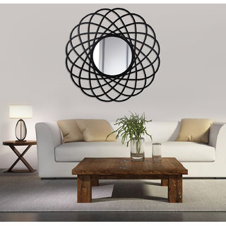Hosley Decorative Circular Sprial Iron Wall Mirror