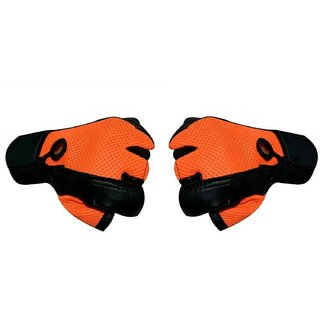 CP Bigbasket Netted Wrist Support Gym  Fitness Gloves (orange)