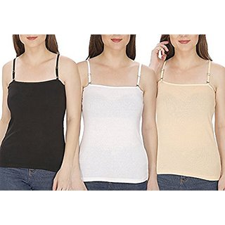 Minha Girls camisole pack of 3  pc asstd color ( bust cover 28 -  36 )