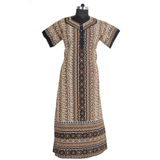 New Fashion Cotton Lady Casual Nighty Maxi Dresses