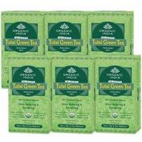 Set of 6 Organic India Tulsi Green 25 Tea Bags Box