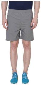 Adidas Grey Polyester Lycra Shorts for Men