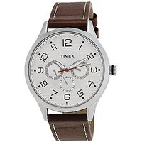 Timex Quartz Silver Dial Mens Watch-TW000T304