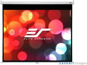 Elite Screens Manual B Series, 100-inch Diagonal 1610, Pull-Down Projection Screen w/ Auto Lock
