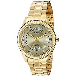 Timex Analog Champagne Dial Mens Watch-TW0TG6202