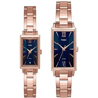 Timex Analog Blue Square Watch -TW00PR218