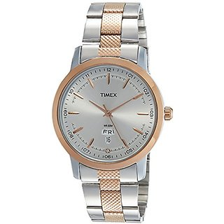 Timex Analog Silver Round Watch -TW000G912