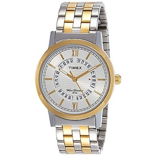 Timex Analog Silver Dial Mens Watch-TW000T128