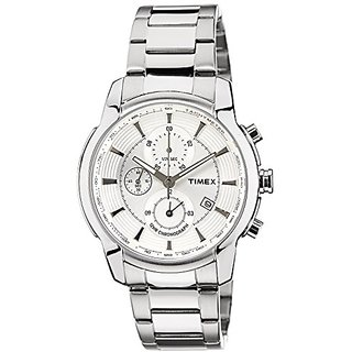 Timex E-Class Analog Silver Dial Mens Watch - TW000Y500