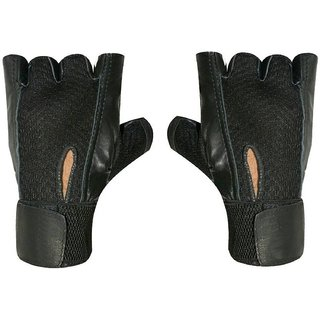 CP Bigbasket Netted Wrist Support Gym  Fitness Gloves (Black)