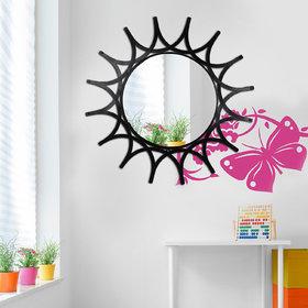 Hosley Decorative Sunflower Iron Wall Mirror