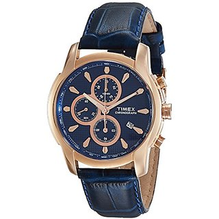 Timex Analog Blue Dial Mens Watch-TW000Y519