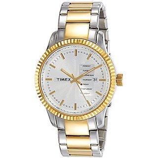 Timex Analog Silver Dial Mens Watch-TWEG15102