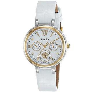 Timex Analog White Round Watch - TWEL11701