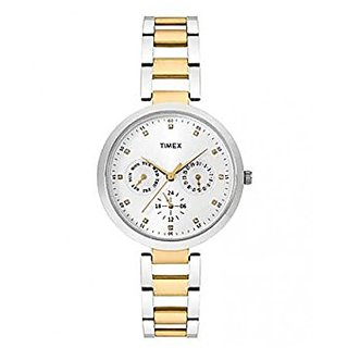 Timex Analog Silver Round Watch - TW000X207