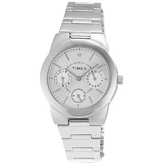 Timex Analog Silver Round Watch - J103