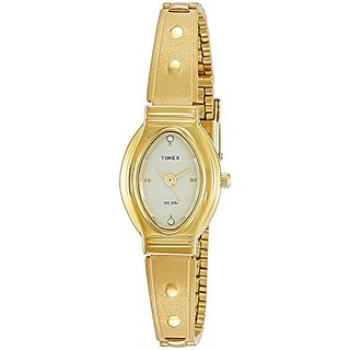 Timex Analog Gold Oval Watch - JW12