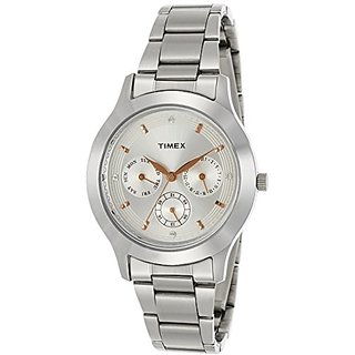 Timex Analog Silver Round Watch - TI000Q80300