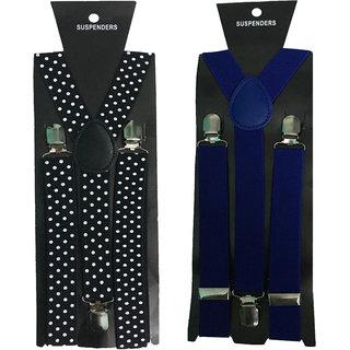 Atyourdoor Y- Back Suspenders for Men(Bdot Royal Blue Color)