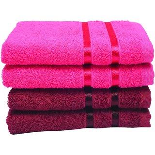 NovaHome Premium Cotton Hand Towels Set of 4 (40 X 60cm.) - Multicolor