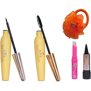 ADS 1606Eyeliner, Mascara , kajal, Pink Lip and Band